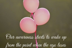 Our awareness starts to wake up from the point when the ego loses its ability to protect itself from the fear of losing.
